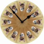 Corgi-Dog-Wall-Clock-10-Round-Wood-Made-in-USA-181405028529