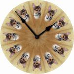 Corgi-Dog-Wall-Clock-10-Round-Wood-Made-in-USA-181405028529