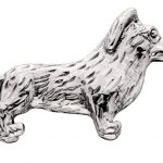 Corgi-Silver-Dog-Charm-Refrigerator-Magnet-Figurine-Welsh-400283195742