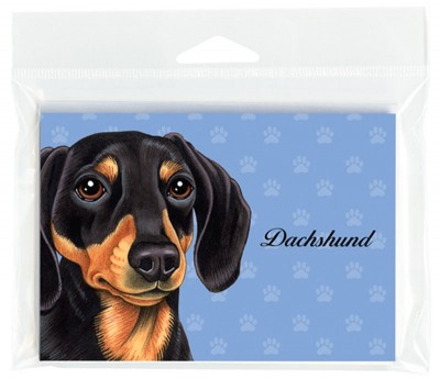 Dachshund-Dog-Note-Cards-Set-of-8-with-Envelopes-Black-181382988961