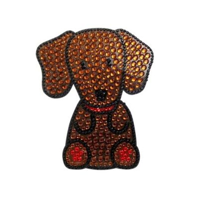 Dachshund-Dog-Rhinestone-Glitter-Jewel-Phone-Ipod-Iphone-Sticker-Decal-181132393510