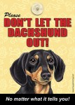 Dachshund-Dont-Let-the-Breed-Out-Sign-Suction-Cup-7x5-BlackTan-181141673208