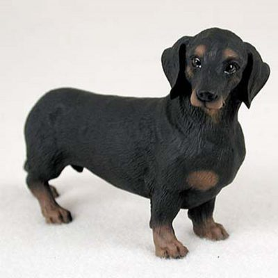 Dachshund-Hand-Painted-Collectible-Dog-Figurine-Black-400250769804