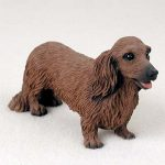 Dachshund-Hand-Painted-Collectible-Dog-Figurine-Red-Long-Haired-180973408345