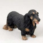 Dachshund-Hand-Painted-Collectible-Dog-Figurine-Statue-Black-Long-Hair-181336549055