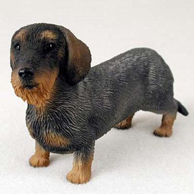 Dachshund-Hand-Painted-Collectible-Dog-Figurine-Wirehaired-400250443429