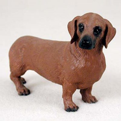 Dachshund-Hand-Painted-Dog-Figurine-Statue-Red-400201747114