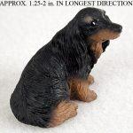 Dachshund-Mini-Resin-Hand-Painted-Dog-Figurine-Statue-Longhair-400322897862