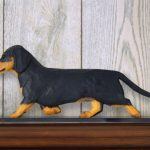Dachshund-Smooth-Dog-Figurine-Sign-Plaque-Display-Wall-Decoration-Black-Tan-400721991592