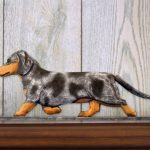 Dachshund-Smooth-Dog-Figurine-Sign-Plaque-Display-Wall-Decoration-Blue-Dapple-400721992171