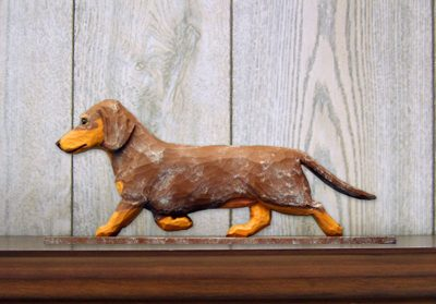 Dachshund-Smooth-Dog-Figurine-Sign-Plaque-Display-Wall-Decoration-Red-Dapple-400721992581