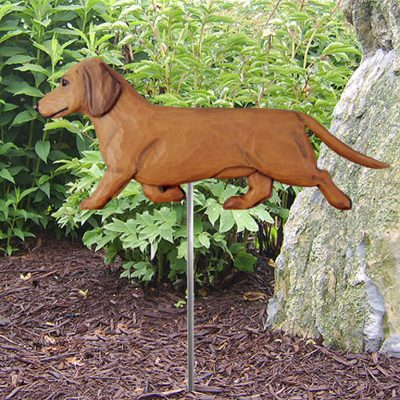 Dachshund-Smooth-Hair-Outdoor-Garden-Dog-Sign-Hand-Painted-Figure-Red-400688302272