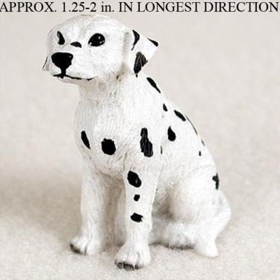 Dalmatian-Mini-Resin-Dog-Figurine-Statue-Hand-Painted-180644347795