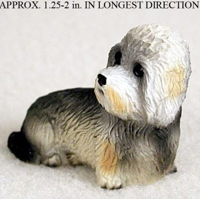 Dandie-Dinmont-Mini-Resin-Dog-Figurine-Statue-Hand-Painted-180644347811