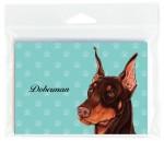Doberman-Dog-Note-Cards-Set-of-8-with-Envelopes-Brown-400694669617