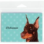 Doberman-Dog-Note-Cards-Set-of-8-with-Envelopes-Brown-400694669617