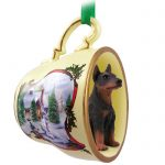 Doberman-Pinscher-Dog-Christmas-Holiday-Teacup-Ornament-Figurine-Red-181239453322