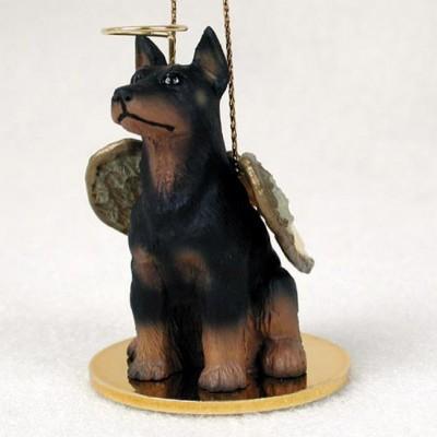 Doberman-Pinscher-Dog-Figurine-Angel-Statue-Black-400219971807