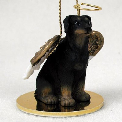 Doberman-Pinscher-Dog-Figurine-Angel-Statue-Hand-Painted-Black-Uncro-180675019327