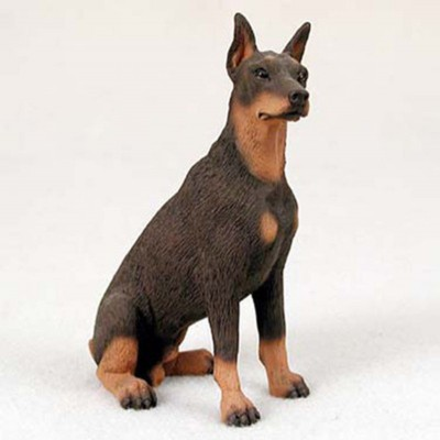 Doberman-Pinscher-Hand-Painted-Collectible-Dog-Figurine-Statue-Red-400269478359