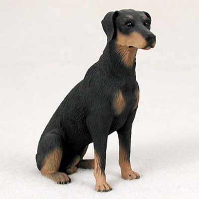 Doberman-Pinscher-Hand-Painted-Dog-Figurine-Statue-180638148493