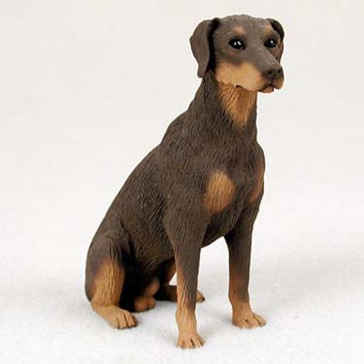 Doberman-Pinscher-Hand-Painted-Dog-Figurine-Statue-181336549382