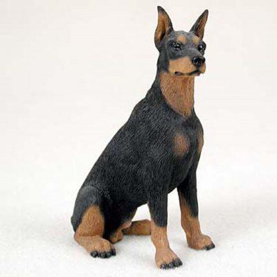 Doberman-Pinscher-Hand-Painted-Dog-Figurine-Statue-400282954920