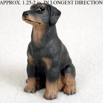 Doberman-Pinscher-Mini-Resin-Dog-Figurine-Statue-Hand-Painted-Black-Uncropp-400205070264