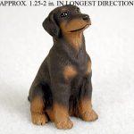 Doberman-Pinscher-Mini-Resin-Hand-Painted-Dog-Figurine-Statue-Red-Uncrop-180738575575