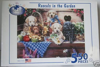 Dog-Lab-Dogs-550-Piece-Jigsaw-Puzzle-Game-Art-New-180431642941
