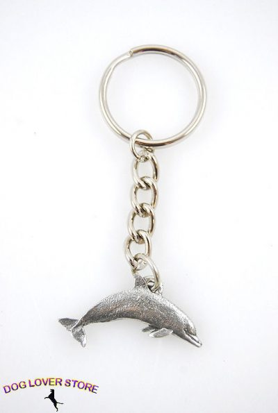 Dolphin-Fine-Pewter-Silver-Keychain-Key-Chain-Ring-400402424806