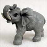 Elephant-Mini-Resin-Hand-Painted-Wildlife-Animal-Figurine-181244573809