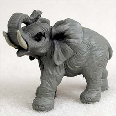 Elephant-Mini-Resin-Hand-Painted-Wildlife-Animal-Figurine-181244573809