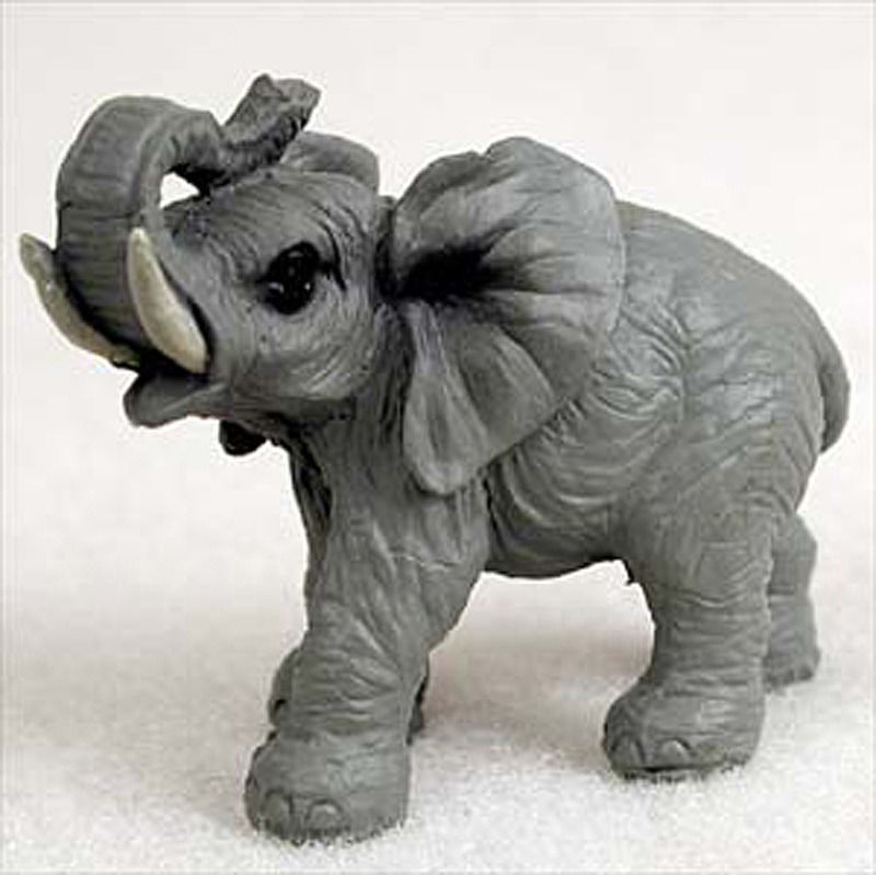 Elephant Mini Resin Hand Painted Wildlife Animal Figurine