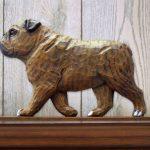 English-Bulldog-Figurine-Sign-Plaque-Display-Wall-Decoration-Brindle-181430779160
