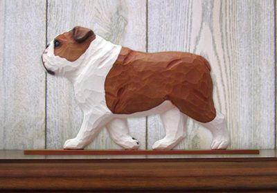 English-Bulldog-Figurine-Sign-Plaque-Display-Wall-Decoration-Red-181430779958