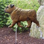 English-Bulldog-Outdoor-Garden-Dog-Sign-Hand-Painted-Figure-Brindle-181369658804