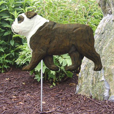 English-Bulldog-Outdoor-Garden-Dog-Sign-Hand-Painted-Figure-BrindleWhite-181369659266