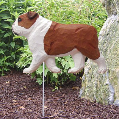 English-Bulldog-Outdoor-Garden-Dog-Sign-Hand-Painted-Figure-Red-181369659643