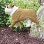 English-Bulldog-Outdoor-Garden-Dog-Sign-Hand-Painted-Figure-Tan-400688304714