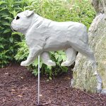 English-Bulldog-Outdoor-Garden-Dog-Sign-Hand-Painted-Figure-White-400688304834