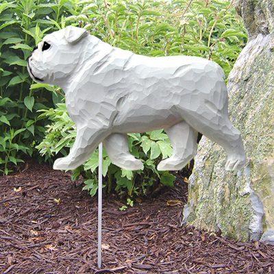 English-Bulldog-Outdoor-Garden-Dog-Sign-Hand-Painted-Figure-White-400688304834