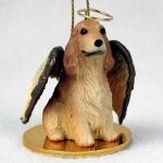 English-Cocker-Spaniel-Dog-Figurine-Angel-Statue-Ornament-Blonde-400250978828