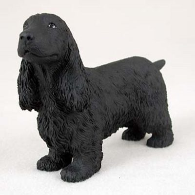 English-Cocker-Spaniel-Hand-Painted-Collectible-Dog-Figurine-Black-181134290519