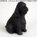 English-Cocker-Spaniel-Mini-Resin-Dog-Figurine-Statue-Hand-Painted-Statue-Black-181136202812