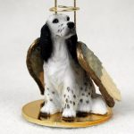 English-Setter-Dog-Figurine-Angel-Statue-Ornament-Blue-Belton-400250978830