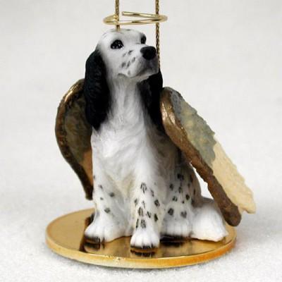 English-Setter-Dog-Figurine-Angel-Statue-Ornament-Blue-Belton-400250978830