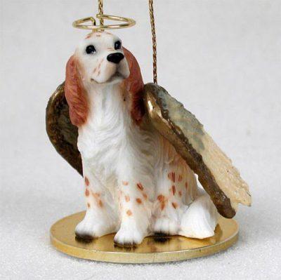 English-Setter-Dog-Figurine-Angel-Statue-Ornament-Orange-Belton-180741556212