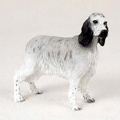 English-Setter-Hand-Painted-Dog-Figurine-Statue-Bl-180638148553