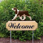 English-Springer-Spaniel-Dog-Breed-Oak-Wood-Welcome-Outdoor-Yard-Sign-Liver-400706794770
